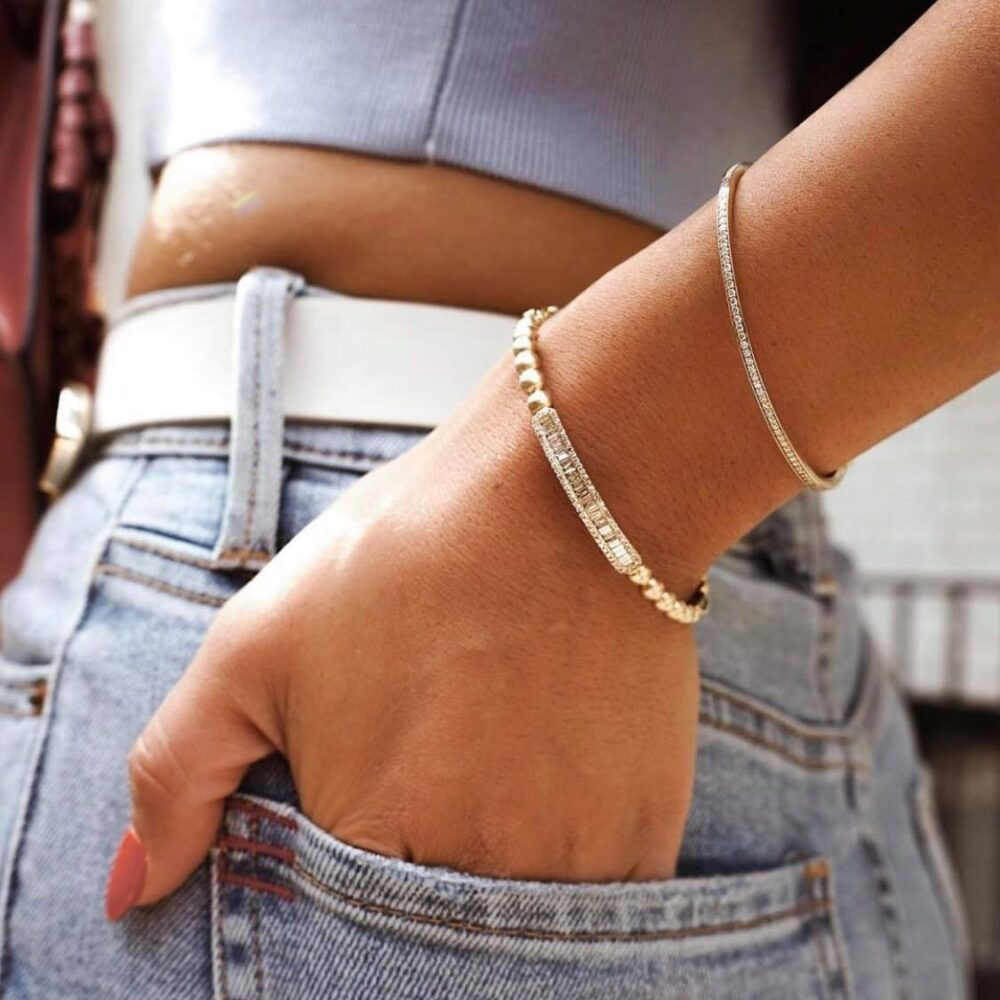 Pave Diamond Skinny Bangle