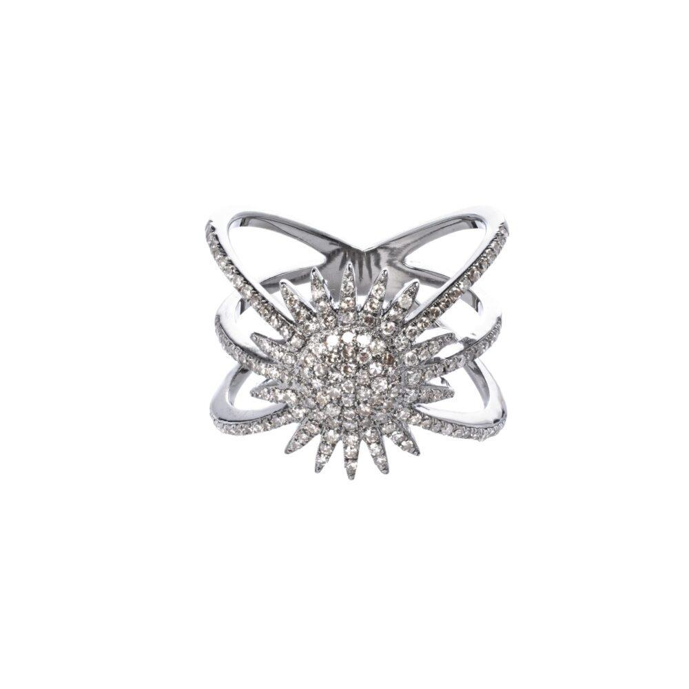 Starburst Ring Sterling Silver