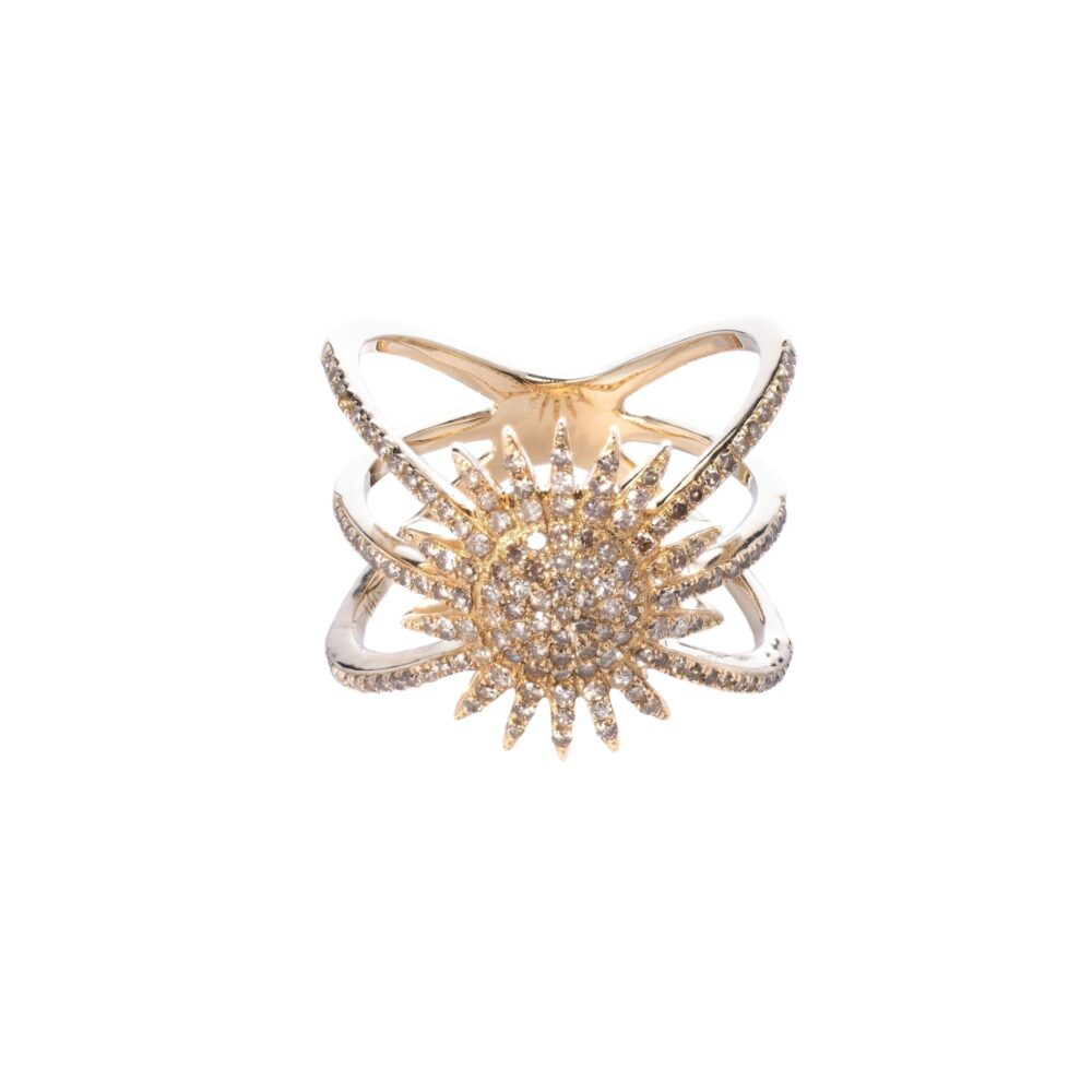 Starburst Ring Yellow Gold