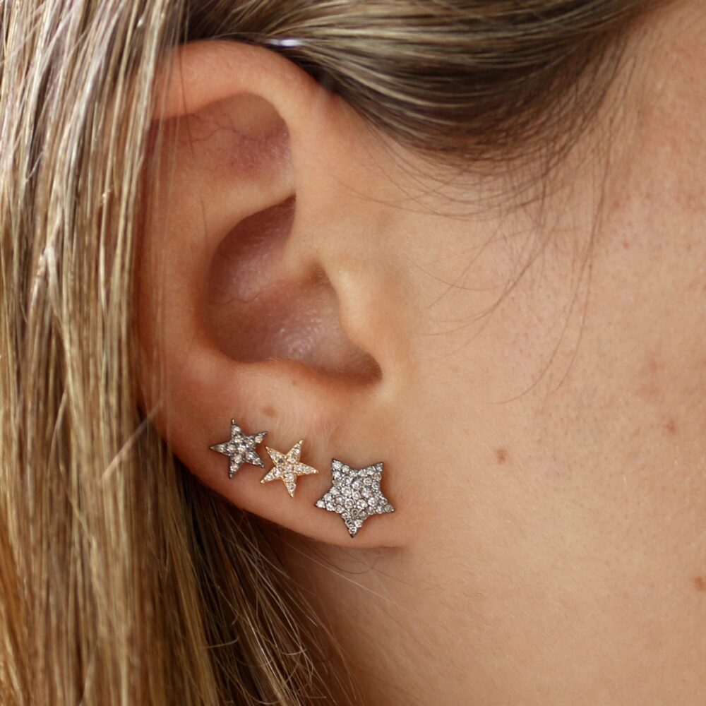 Diamond Chubby Star Studs