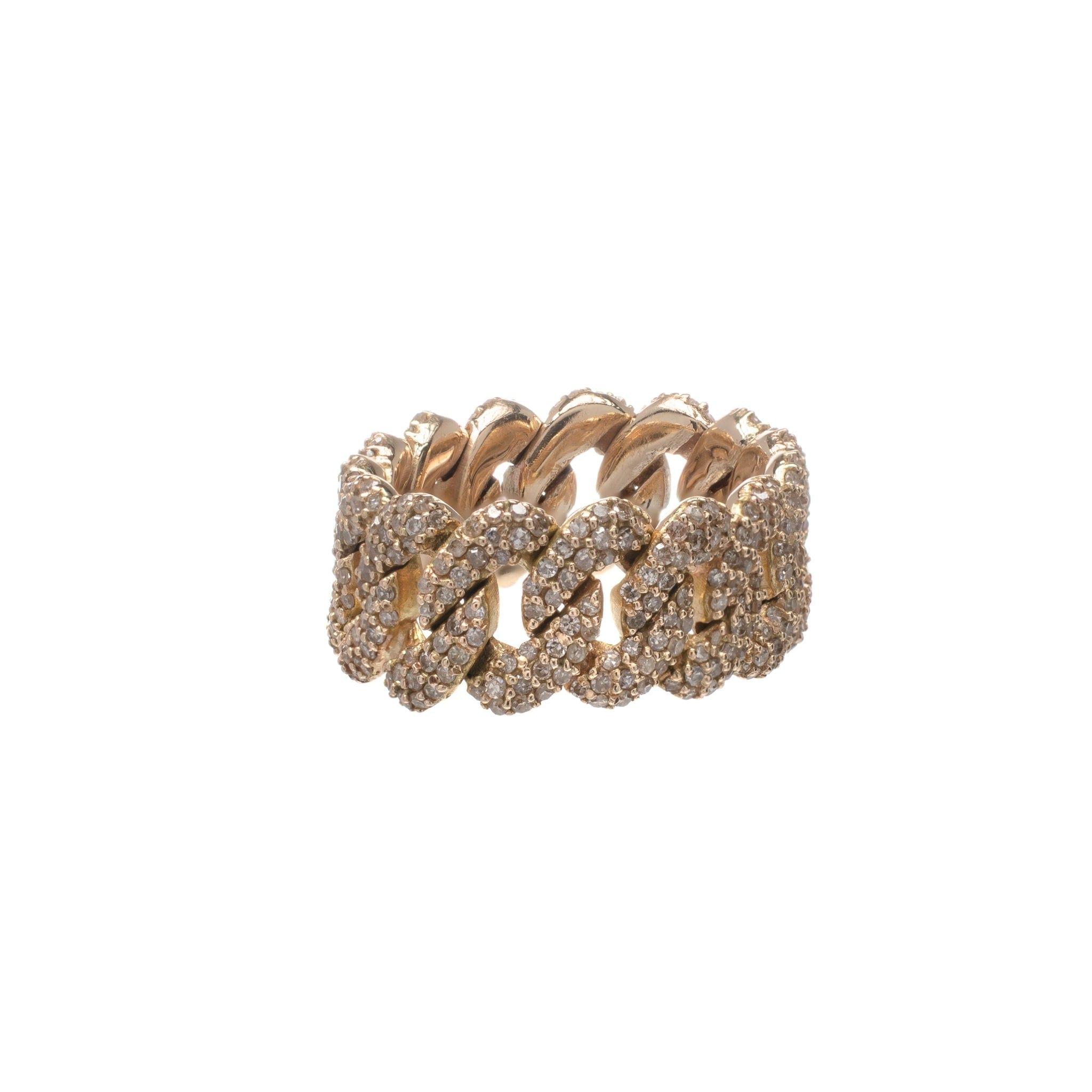 Diamond Flexible Chain Link Ring