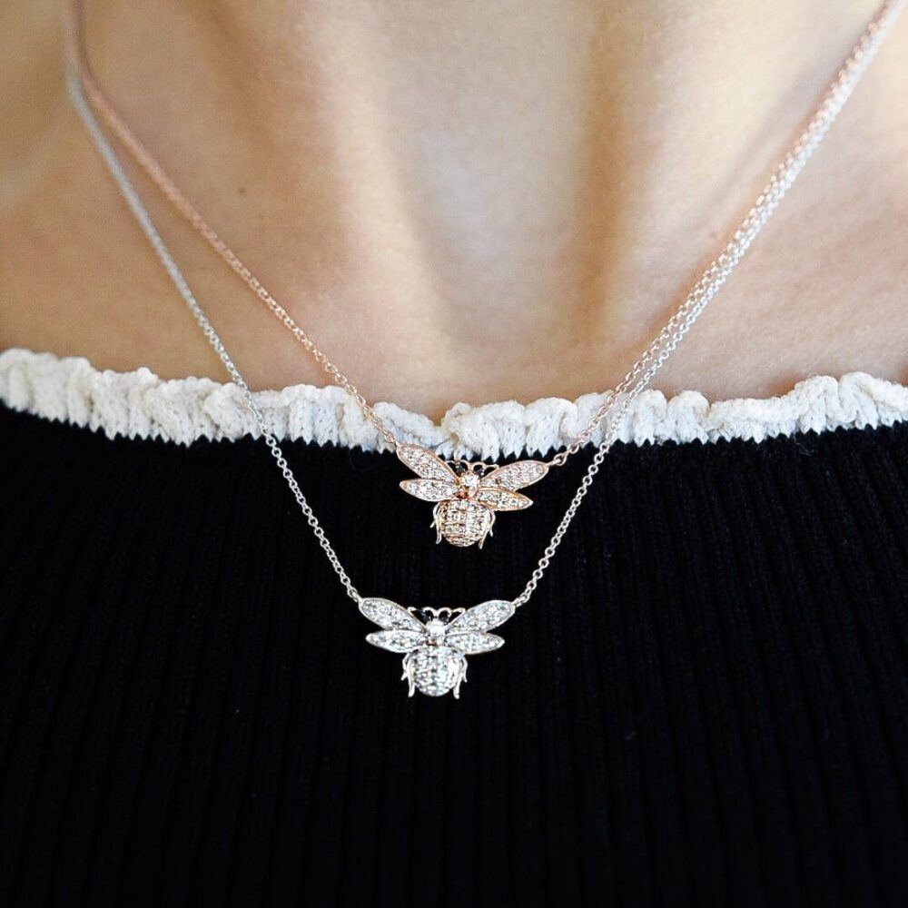Diamond Bee Necklace