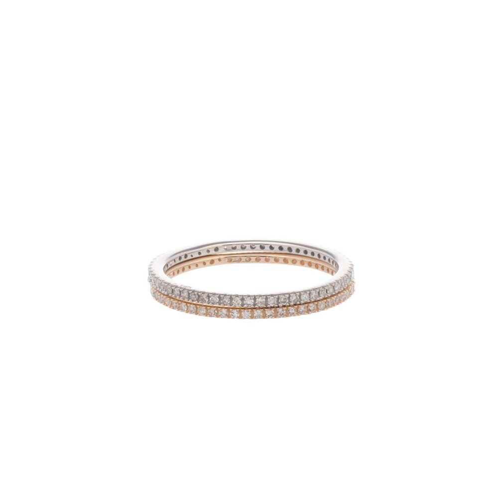 The Skinny Diamond Stacking Eternity Band