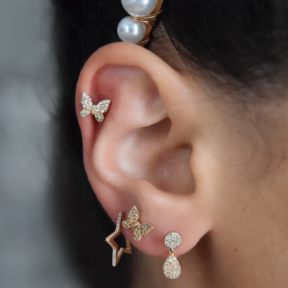 Tiny Butterfly Earrings
