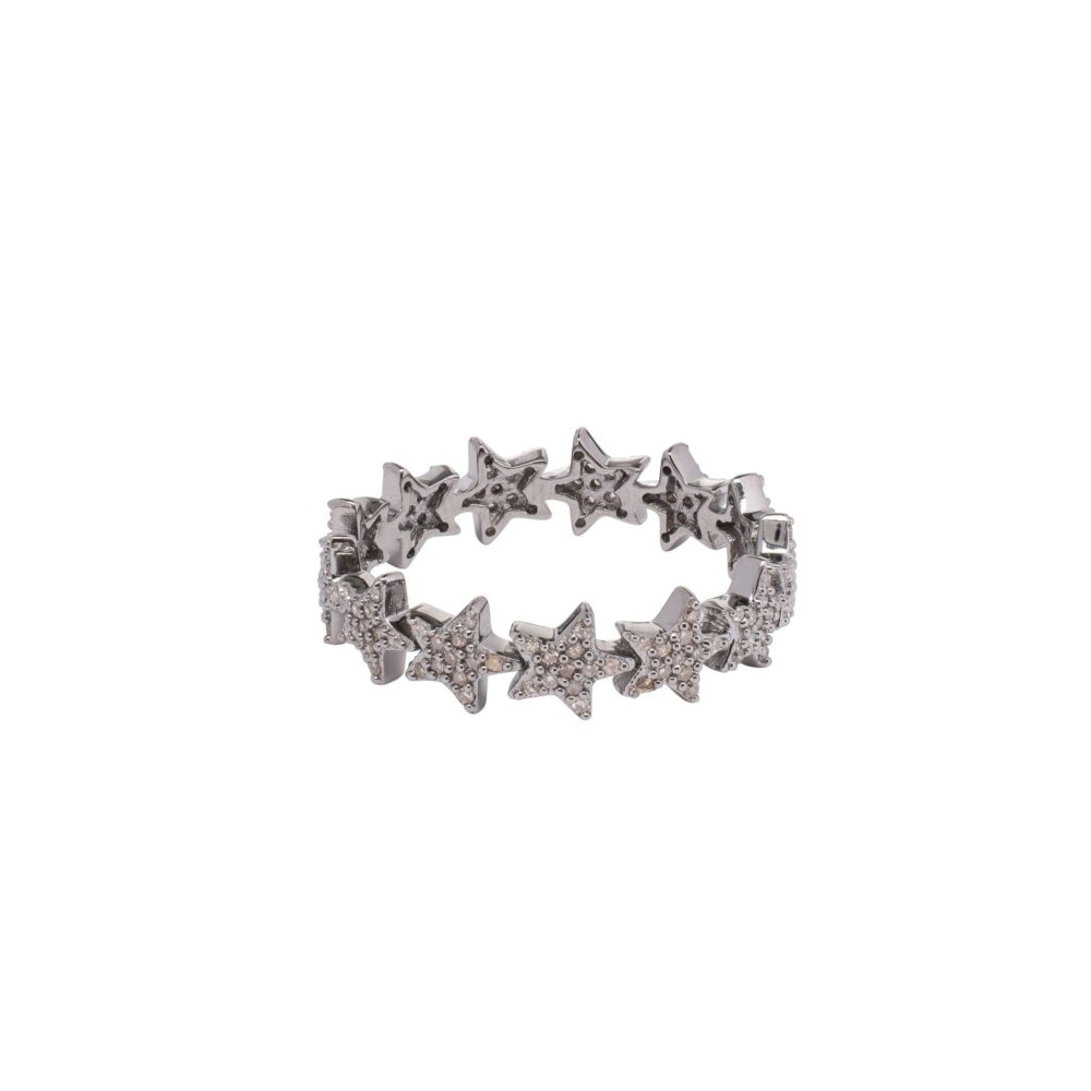 Mini Diamond Star Eternity Band