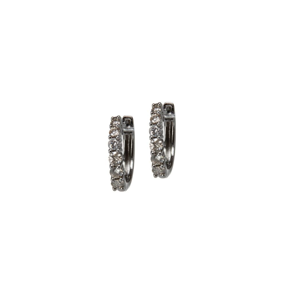 Mini Solitaire Diamond Huggie Earrings