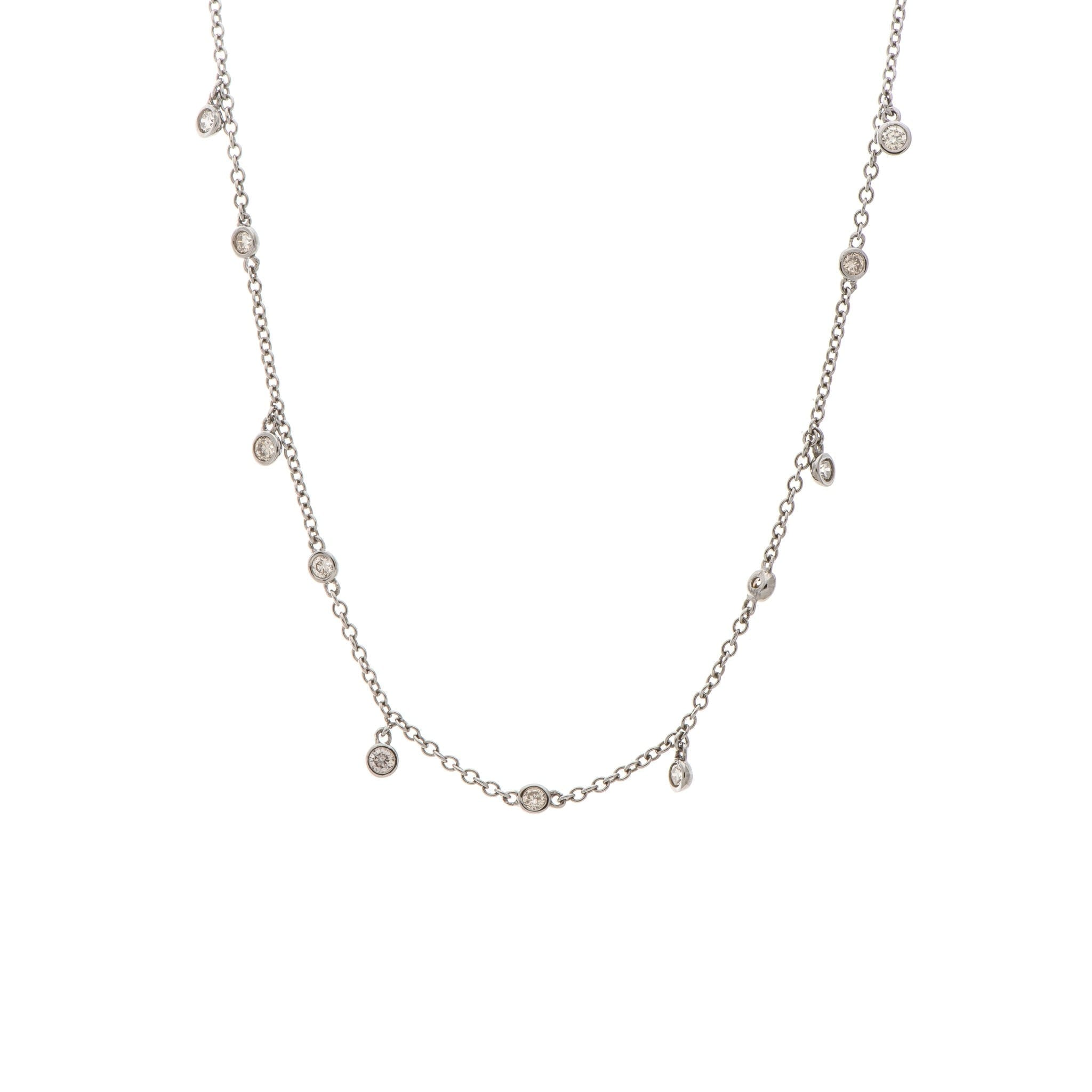 Diamond By-the-Yard with Diamond Drops Sterling Silver