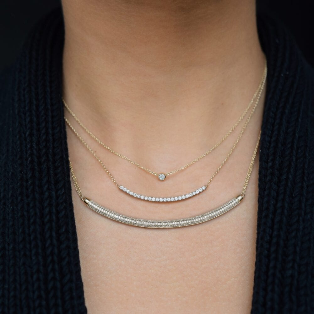 Mini Diamond Solitaire Necklace