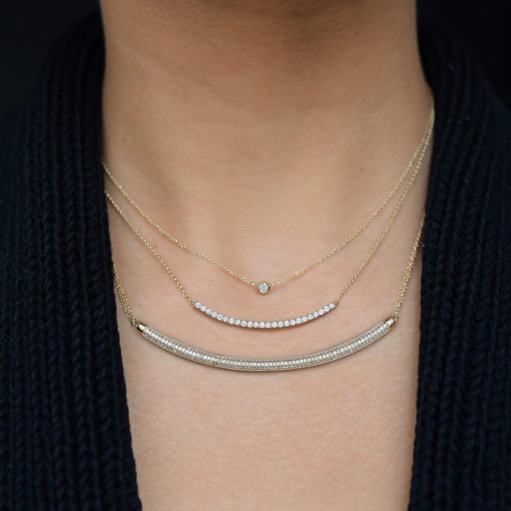 Mini Diamond Solitaire Necklace