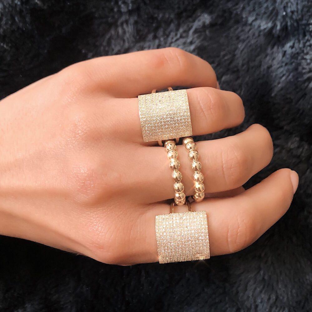 Beaded Gold Ring