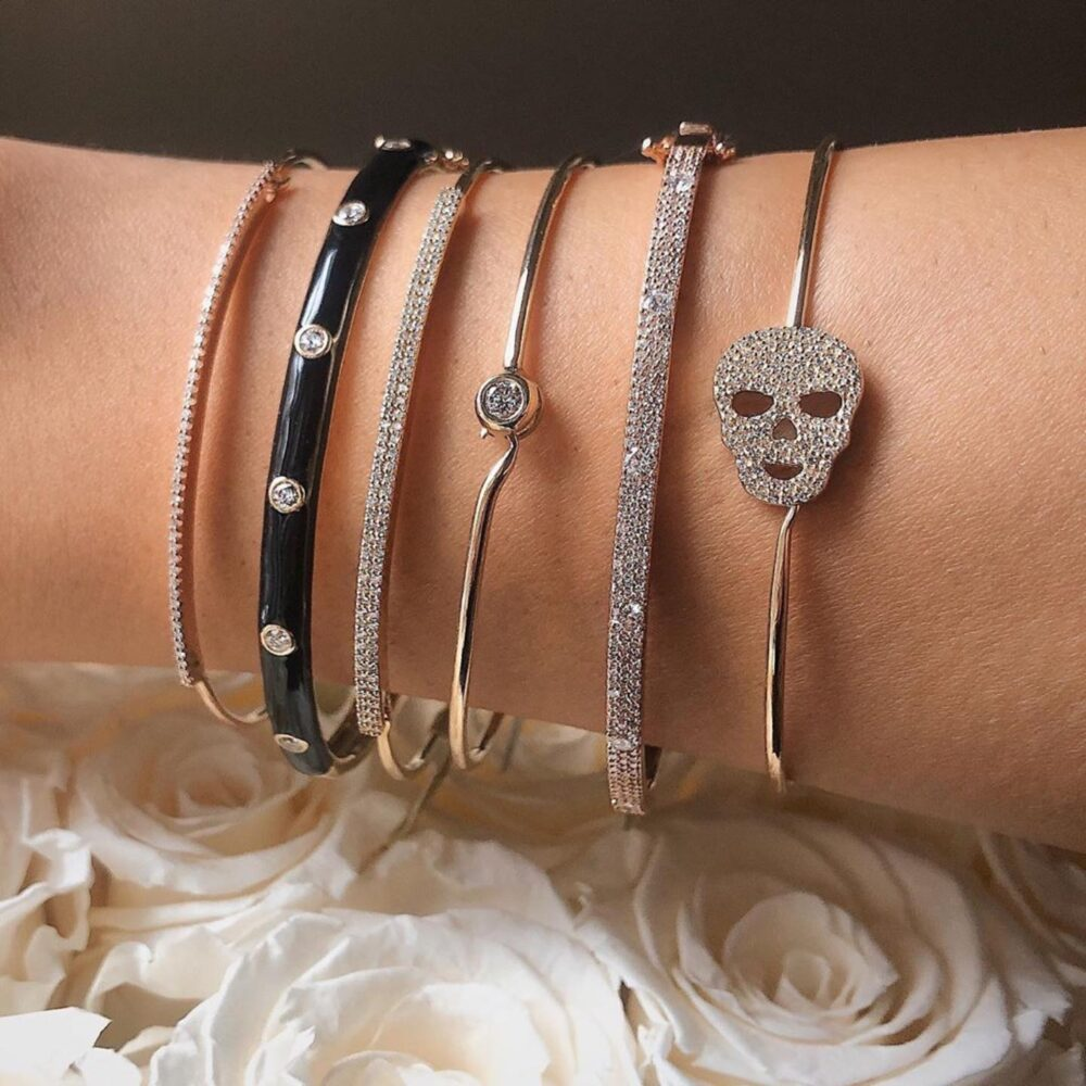 Diamond Bar Wire Bracelet