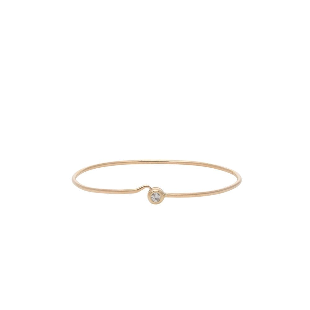 Diamond Bezel Love Bracelet Yellow Gold