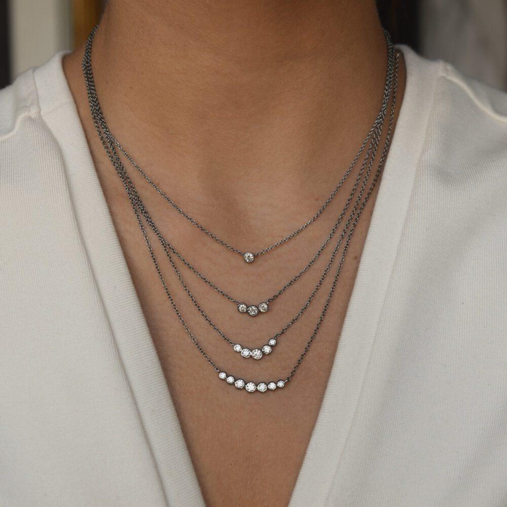 Diamond Bezel Set Necklace