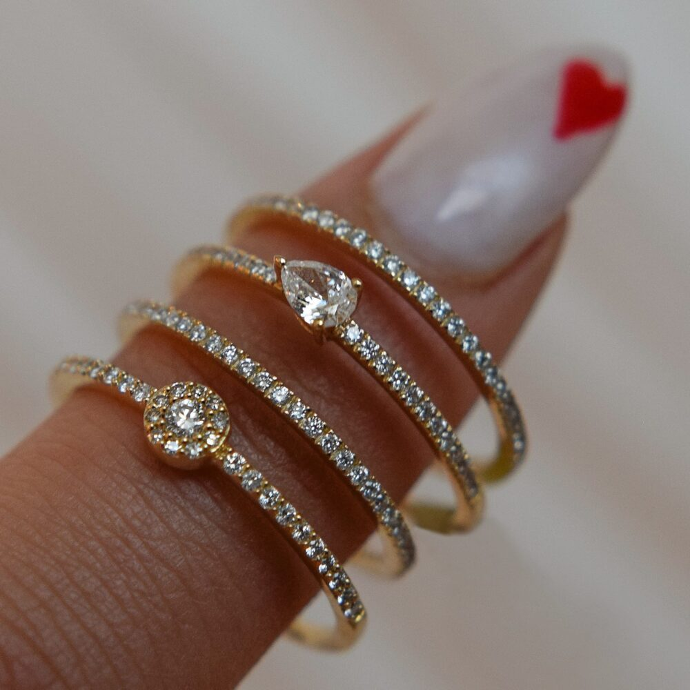 Diamond Pear Horizontal Stacking Band