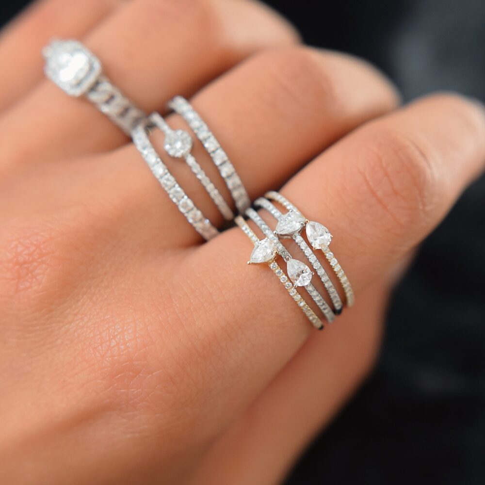 Diamond Pear Stacking Band