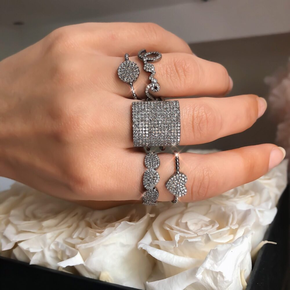 Diamond Square Statement Ring