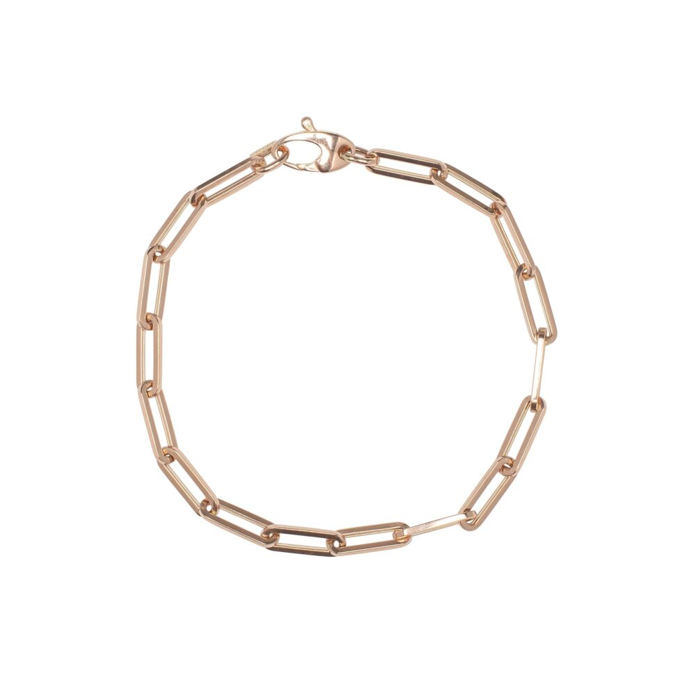 Medium Chain Link Bracelet Rose Gold