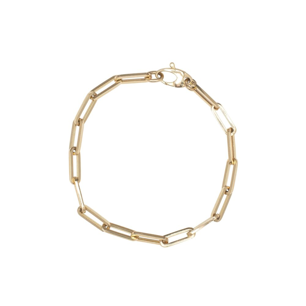 Small Chain Link Bracelet Yellow Gold