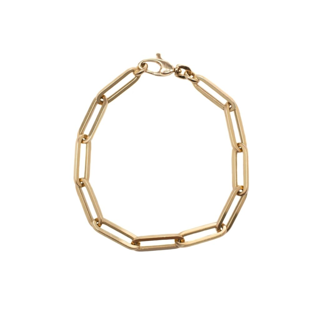Medium Chain Link Bracelet Yellow Gold