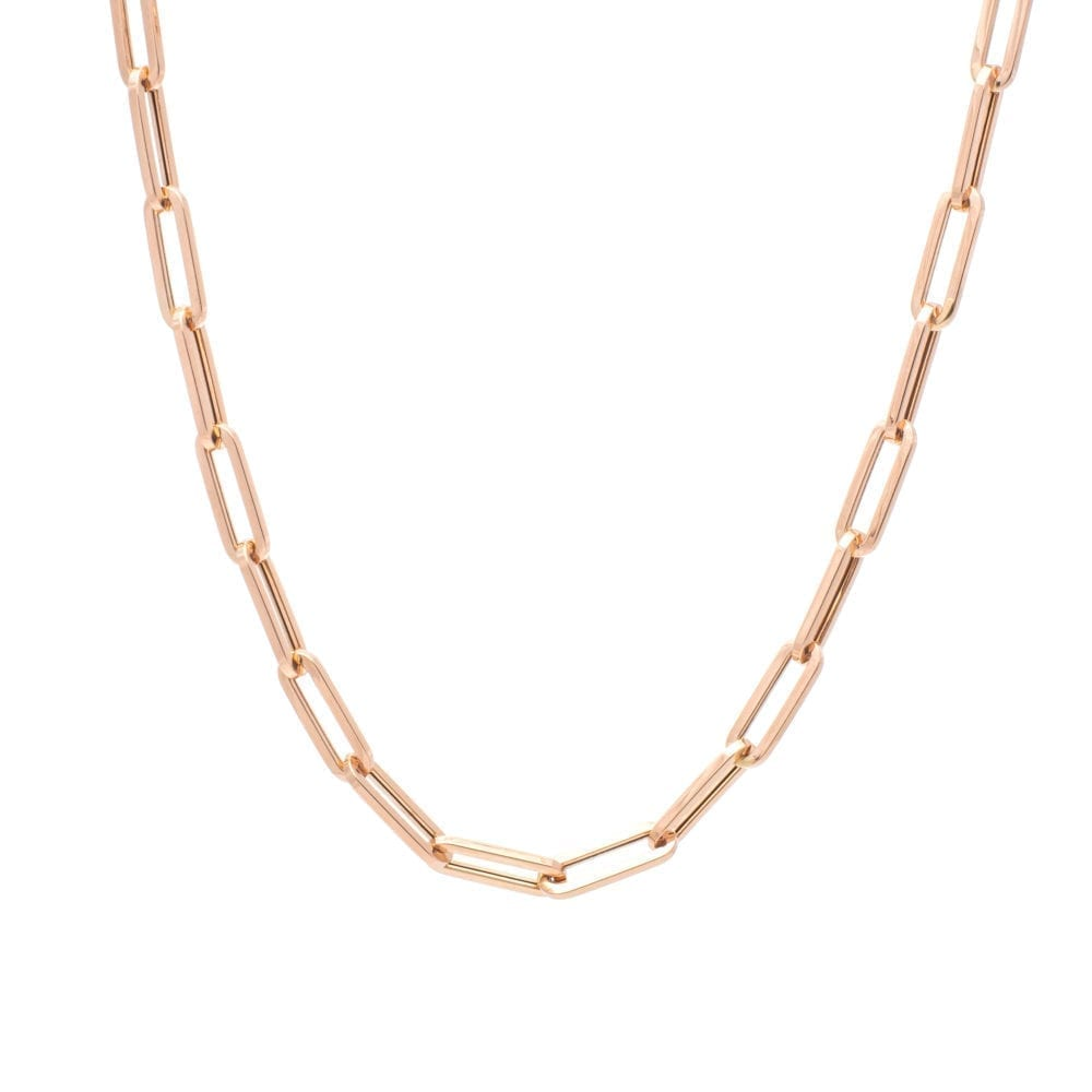 Medium Chain Link Necklace Rose Gold