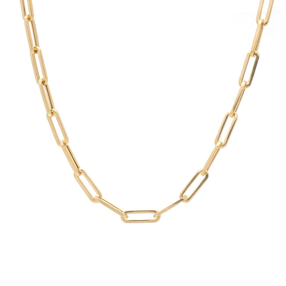 Medium Chain Link Necklace Yellow Gold