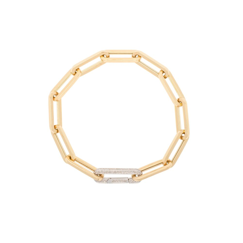 Large Link Bracelet Yellow Gold