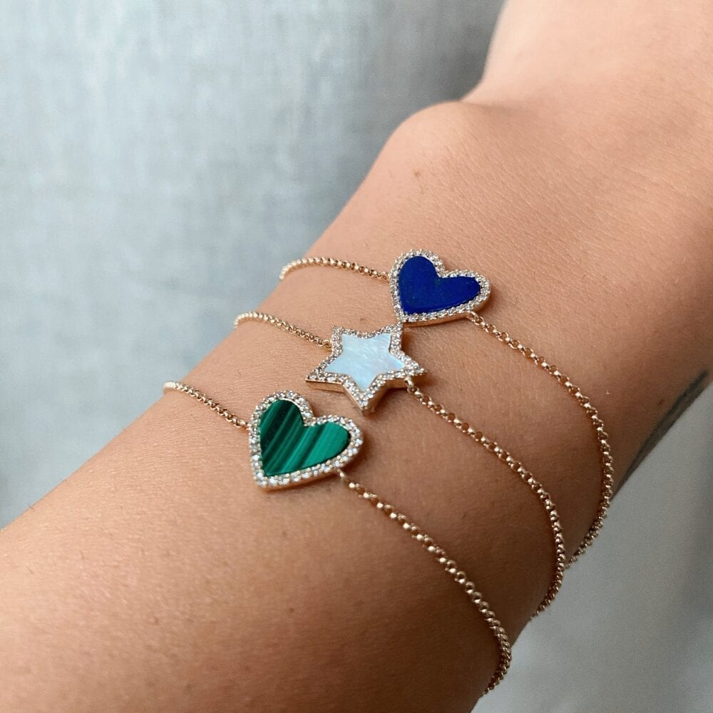 Diamond Mini Mother of Pearl Star Bracelet