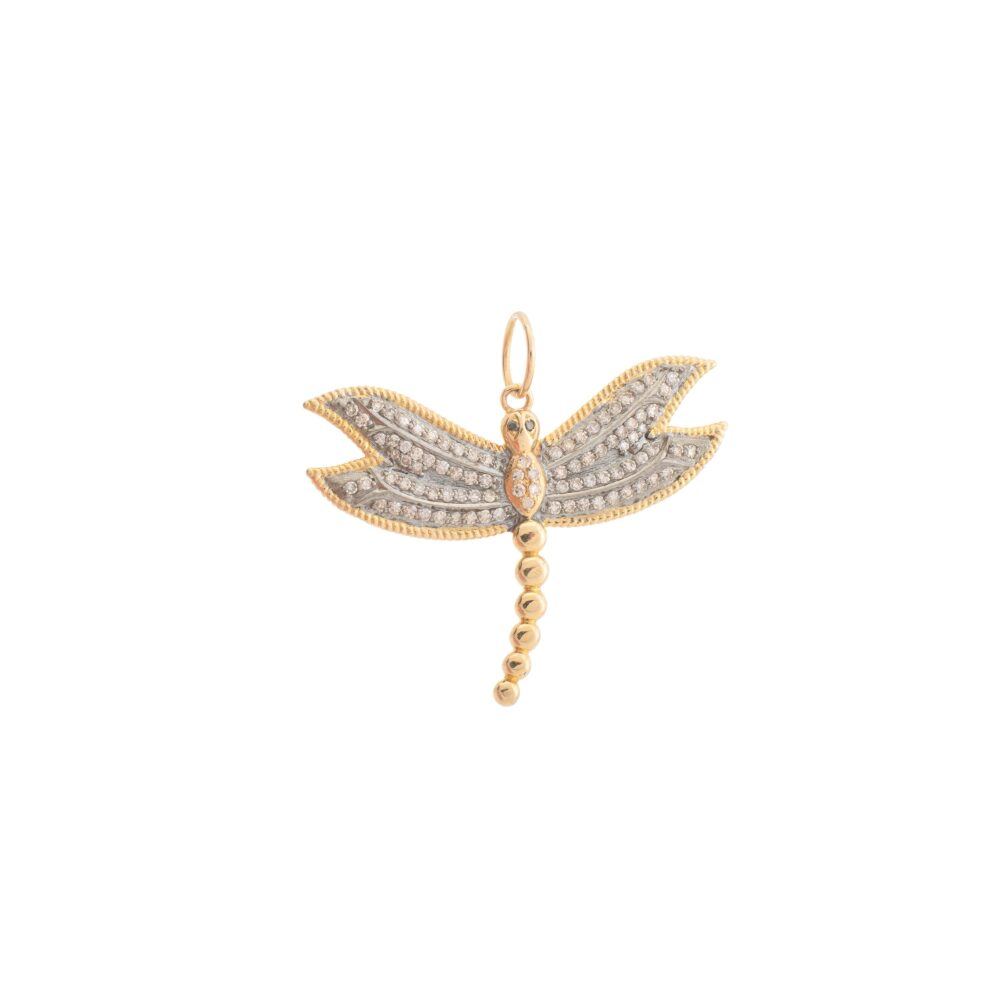 Diamond Dragonfly Charm