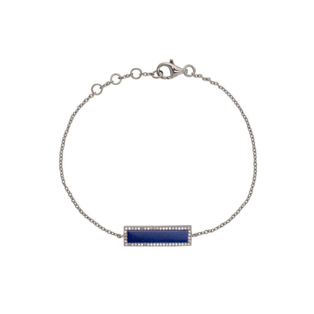 Diamond Lapis ID Bracelet