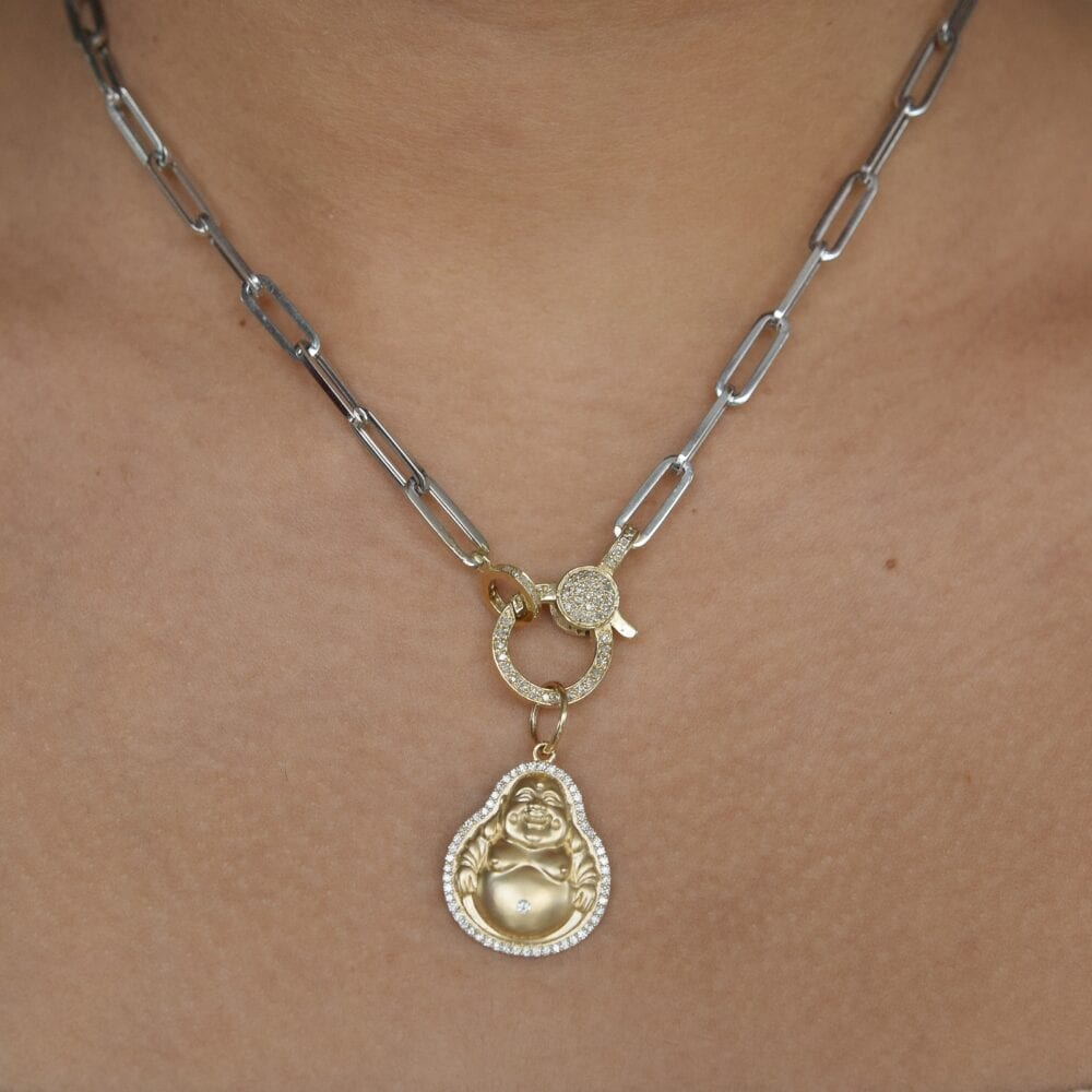 Medium Diamond Happy Buddha Charm