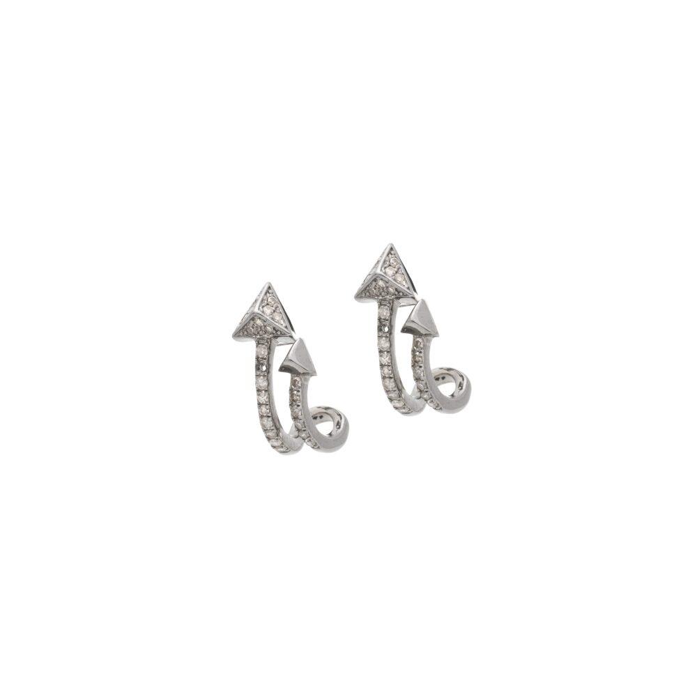 Diamond Double Triangle Earrings