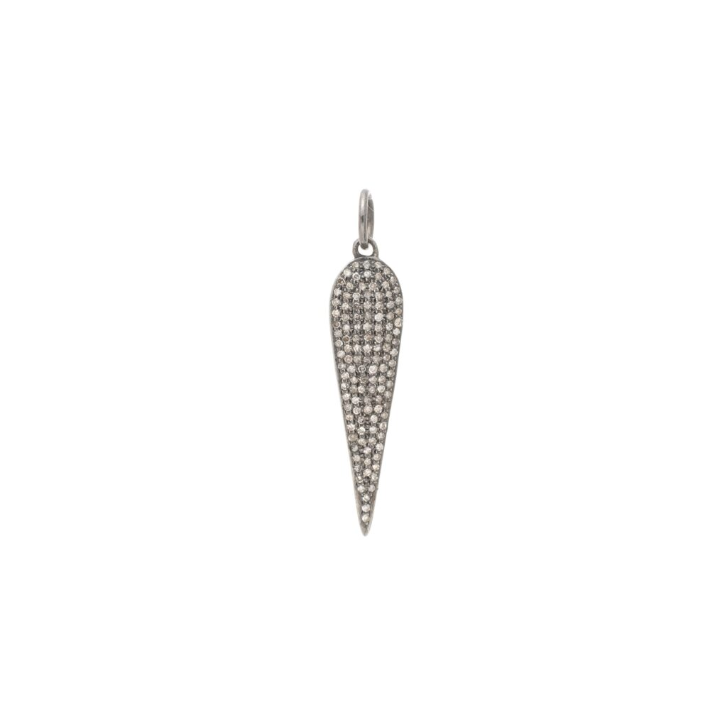 Diamond Elongated Teardrop Pendant