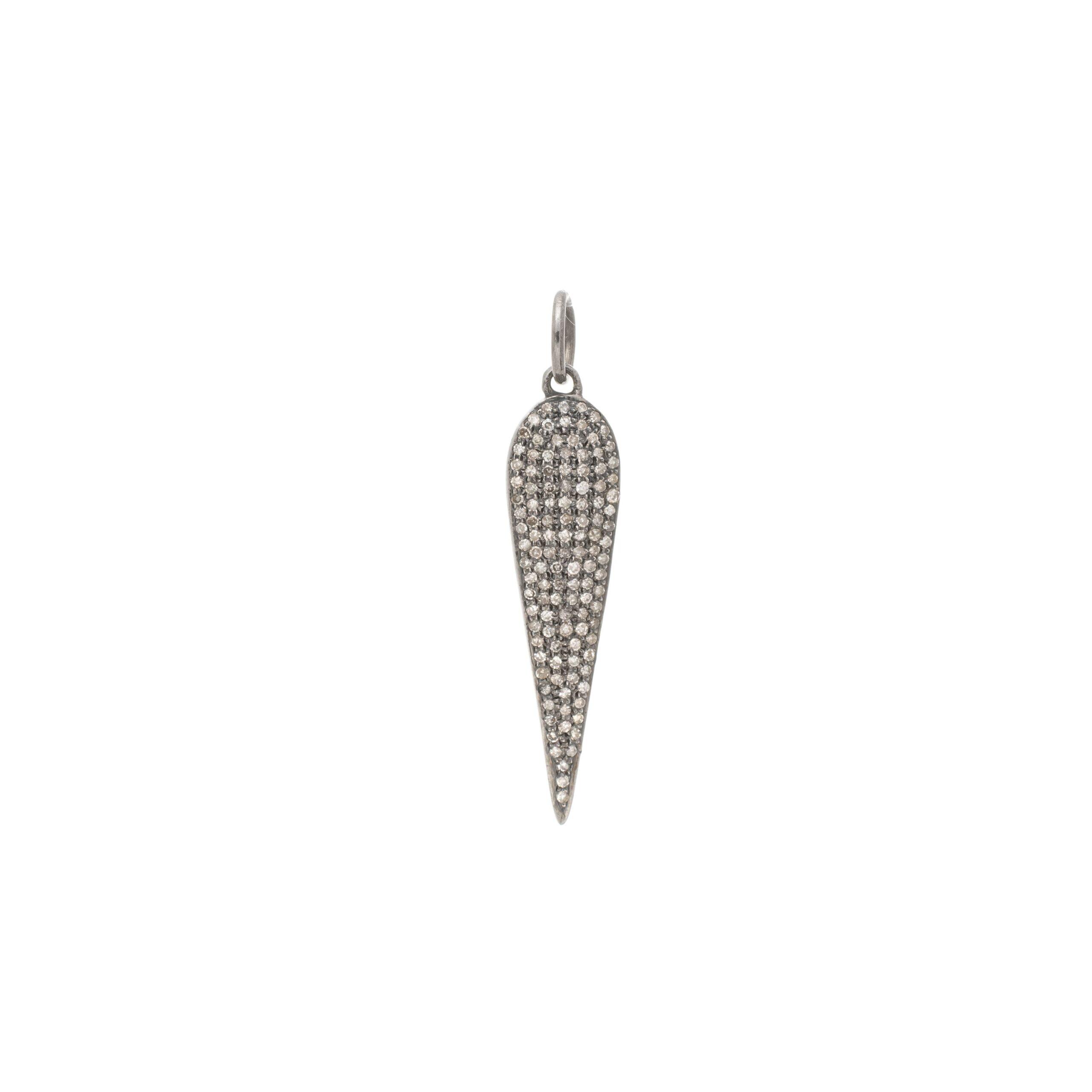 Diamond Elongated Teardrop Pendant