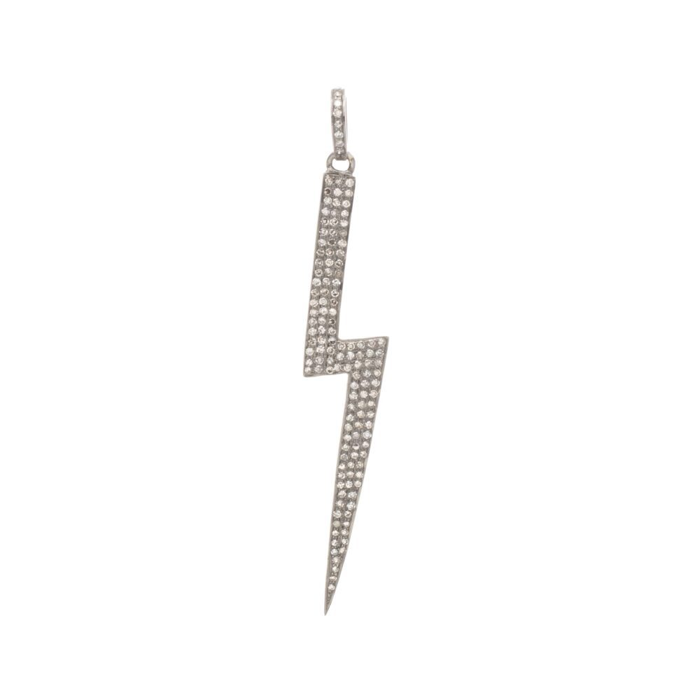 Diamond Large Lightning Bolt Pendant