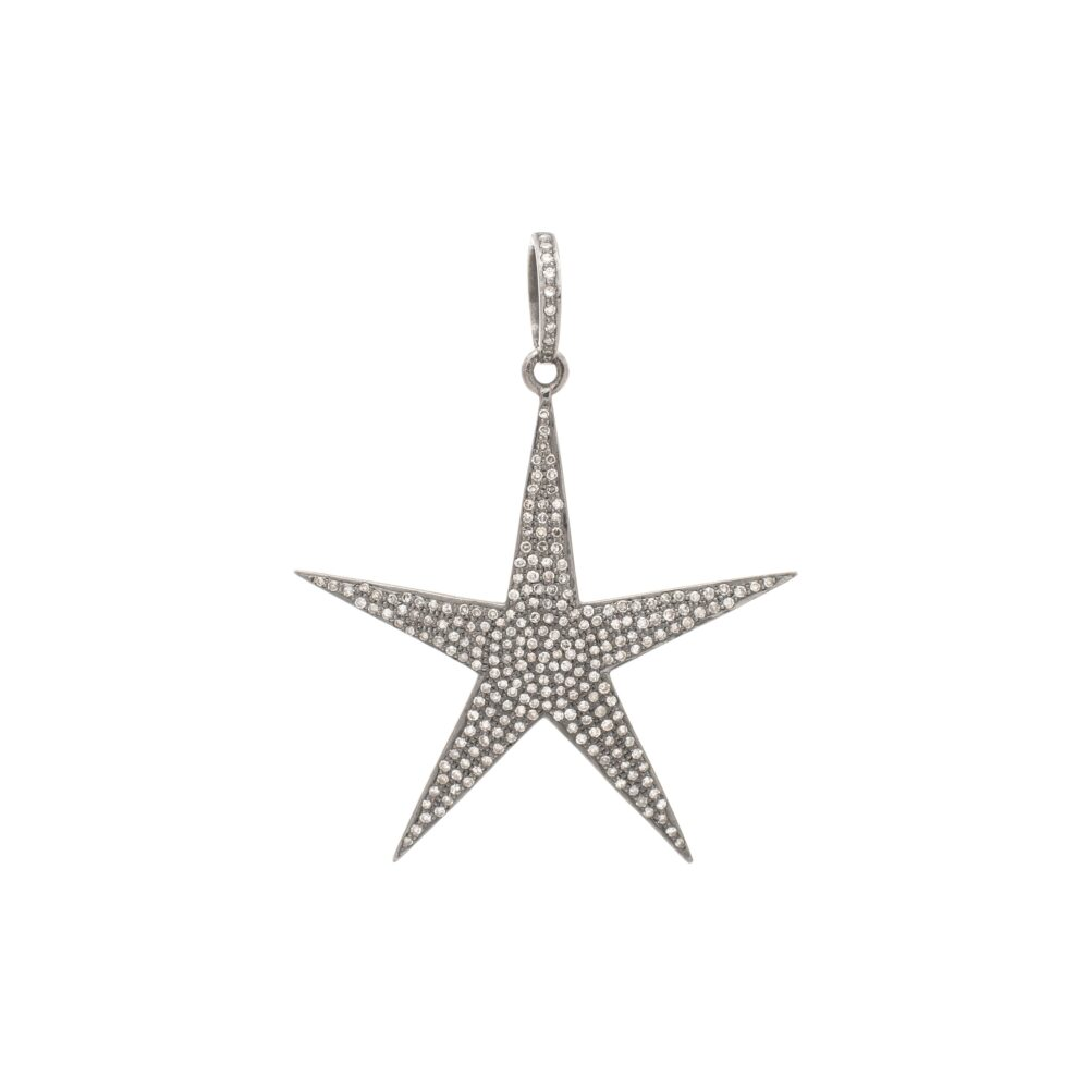 Diamond Large Star Pendant