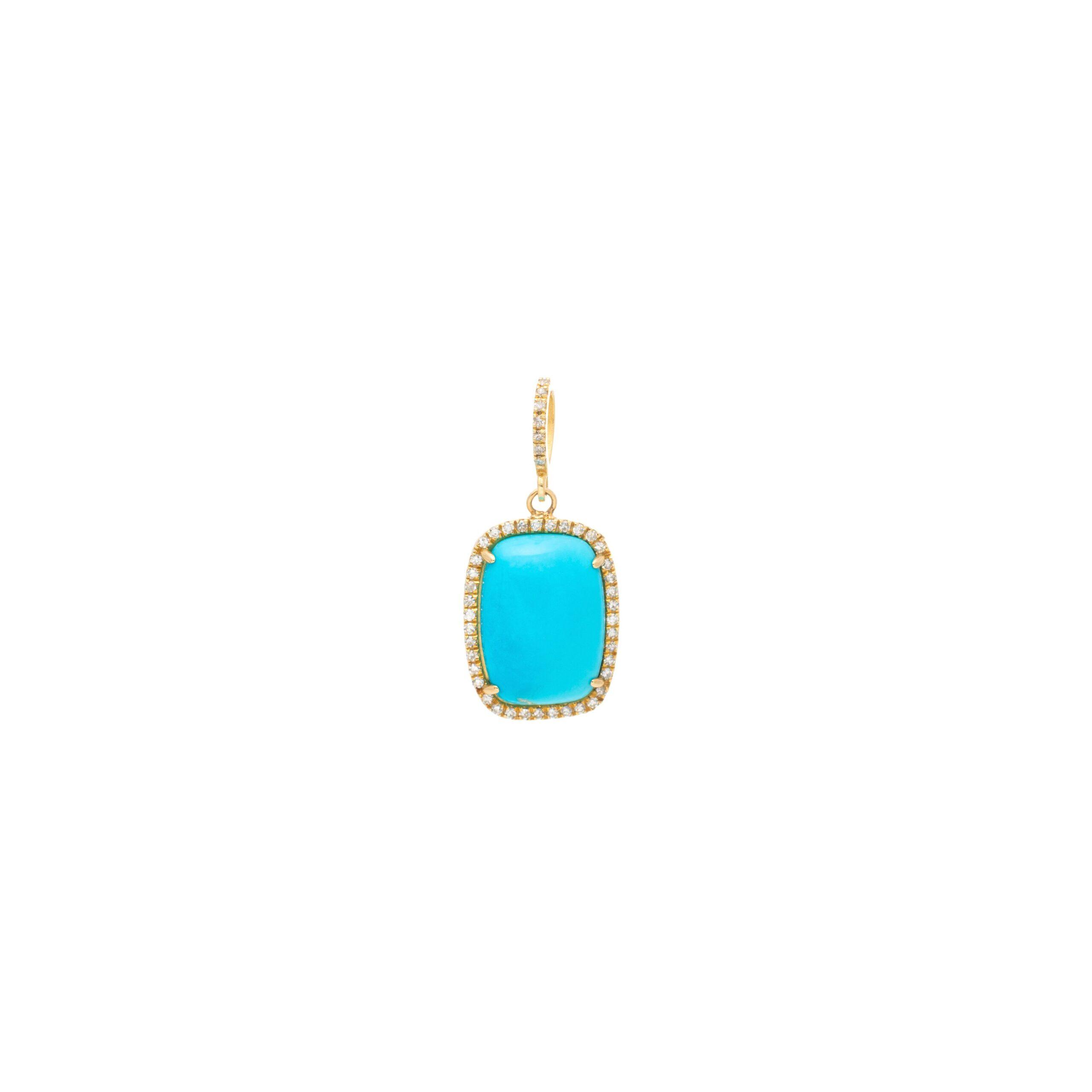 Diamond & Turquoise Pendant