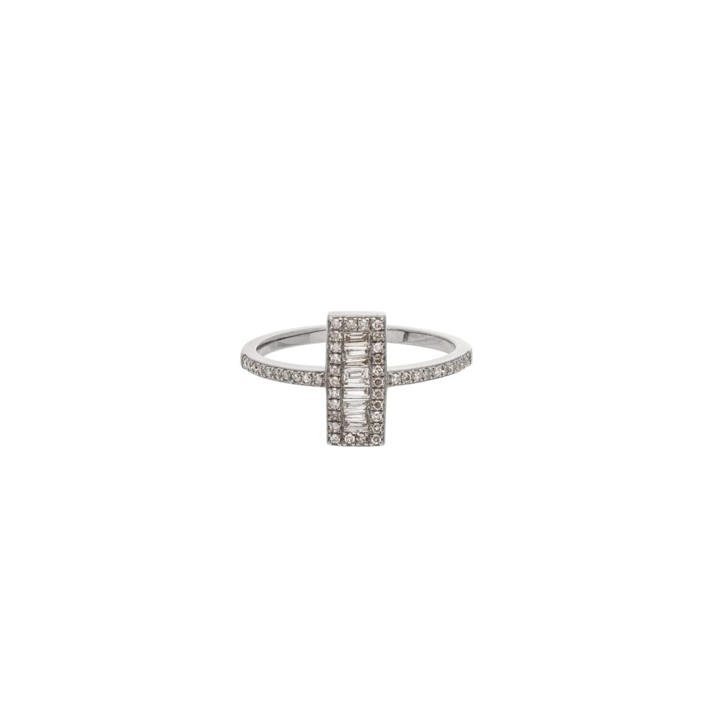 Diamond Rectangle Baguette Ring