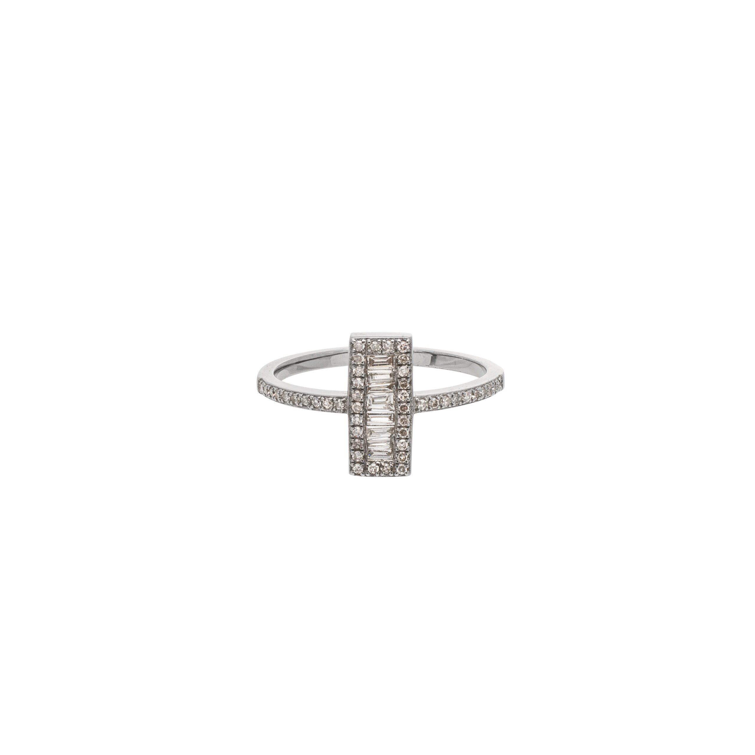Diamond Rectangle Baguette Ring
