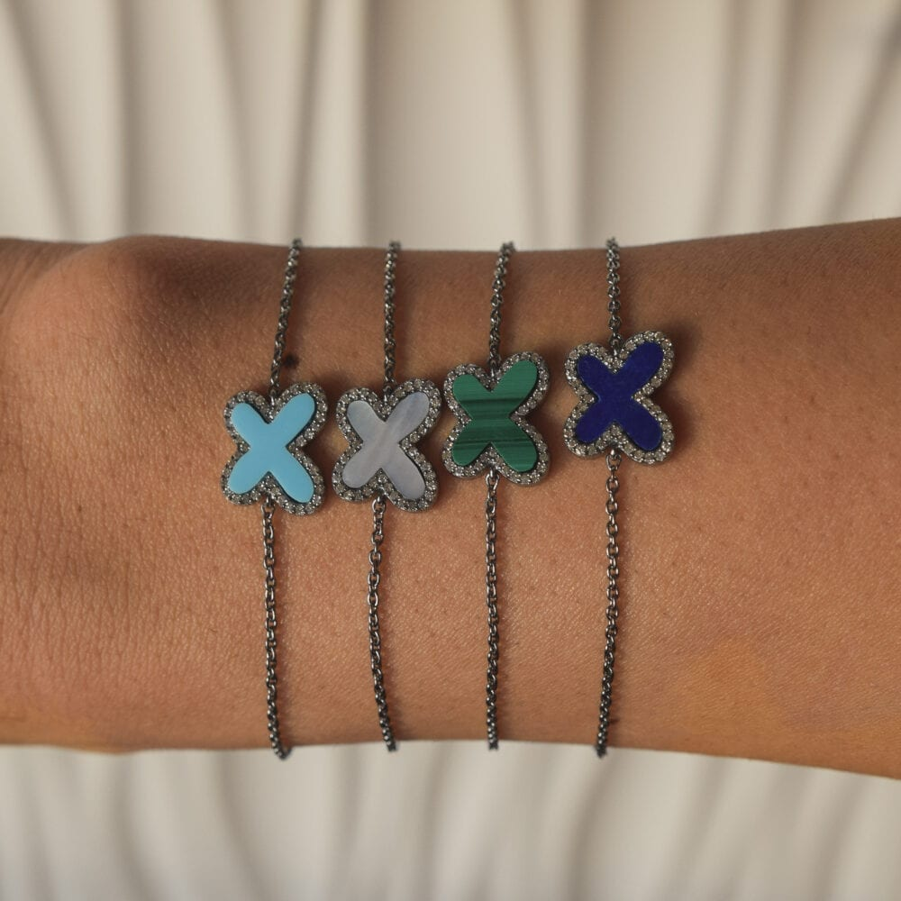 Diamond Mini Lapis Butterfly Bracelet