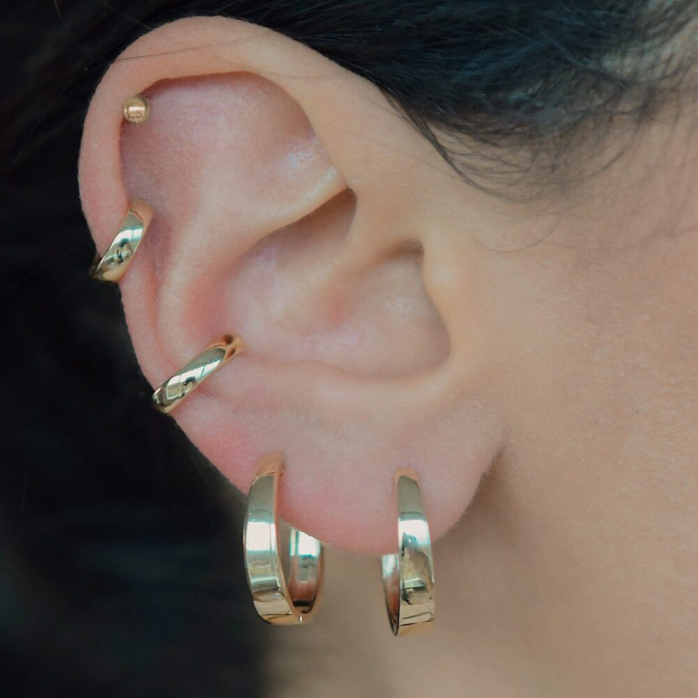 Medium Tapered Hoops