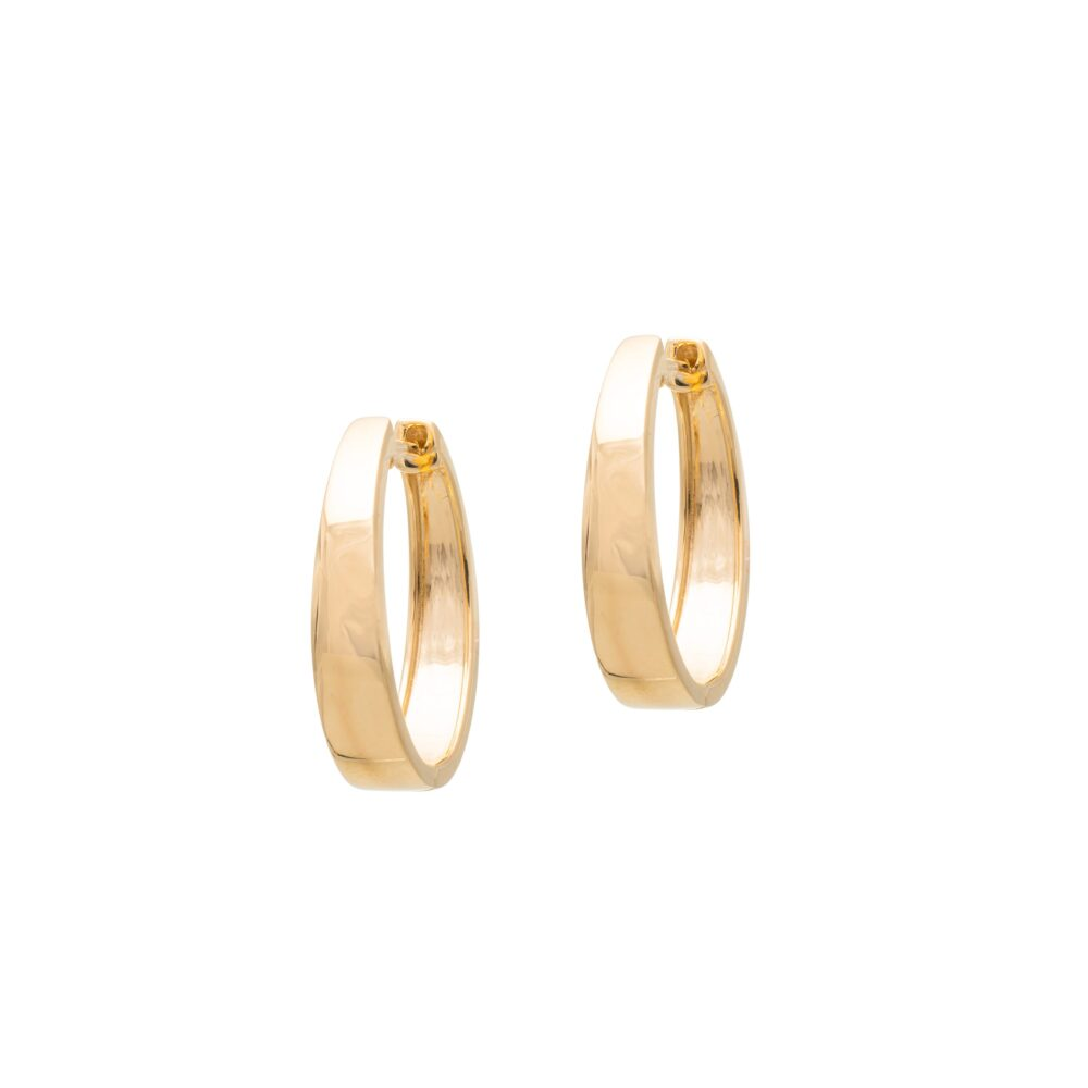 Medium Tapered Hoops Yellow Gold