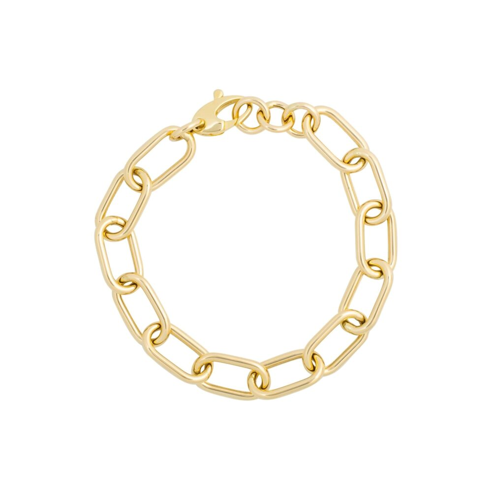 Oval Chain Bracelet Yellow Gold