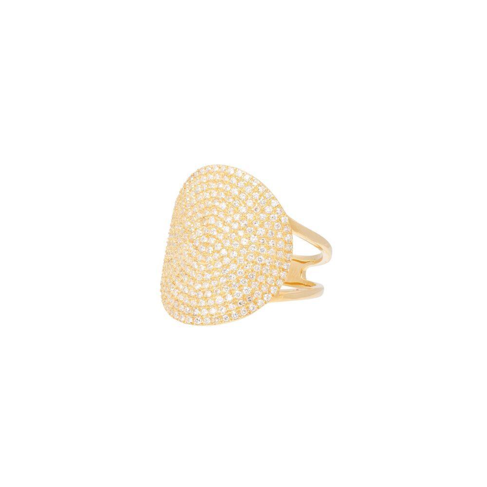 Medium Round Diamond Ring Yellow Gold