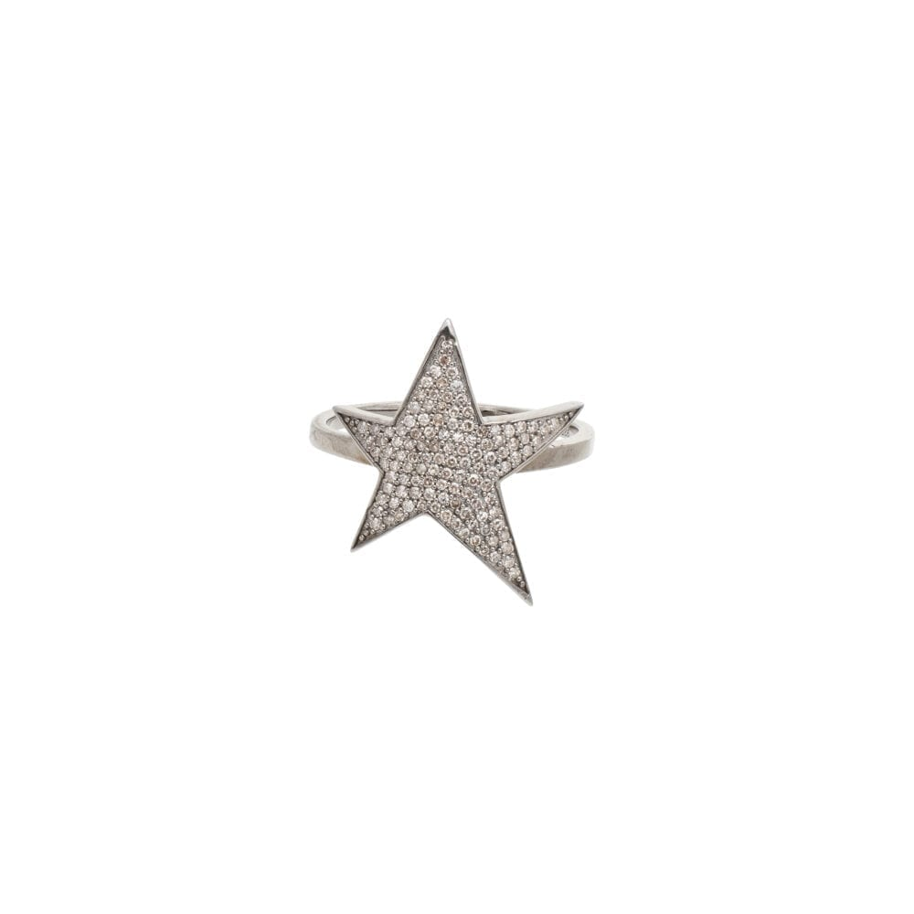 Asymmetrical Star Ring Sterling Silver
